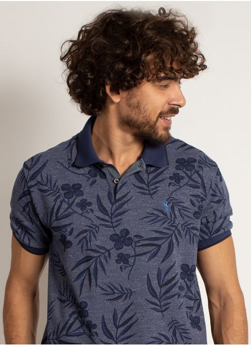 camisa-polo-aleatory-masculina-mini-print-floral-azul-marinho-modelo-1-