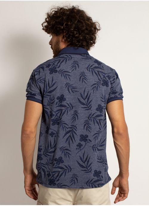 camisa-polo-aleatory-masculina-mini-print-floral-azul-marinho-modelo-2-