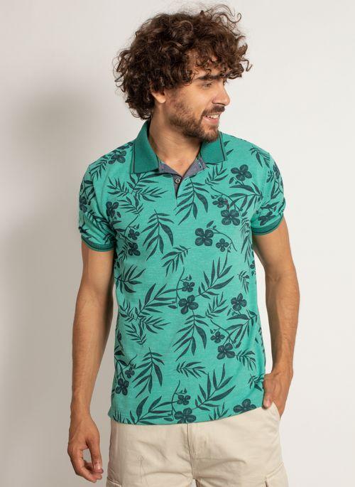 camisa-polo-aleatory-masculina-mini-print-floral-verde-modelo-5-