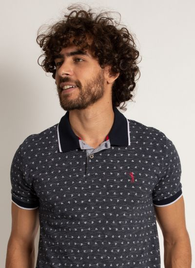 camisa-polo-aleatory-masculina-mini-print-anchor-modelo-1-