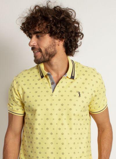 camisa-polo-aleatory-masculina-mini-print-leaf-modelo-1-
