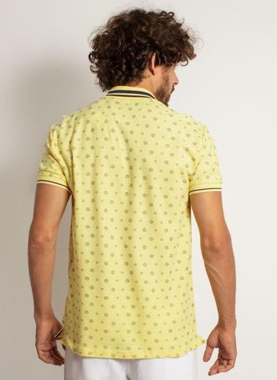 camisa-polo-aleatory-masculina-mini-print-leaf-modelo-2-
