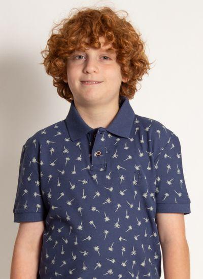 camisa-polo-aleatory-infantil-piquet-mini-print-royalty-azul-modelo-2020-1-