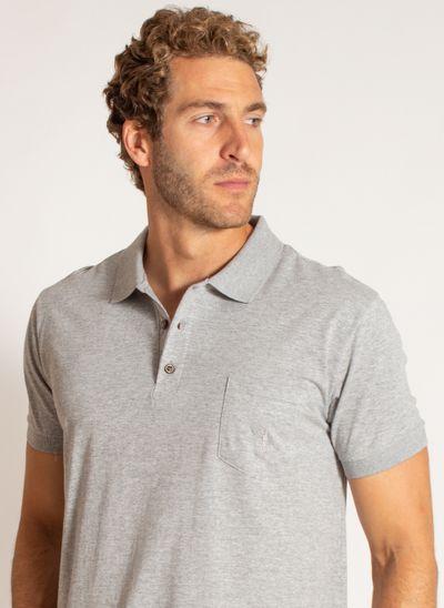 camisa-polo-aleatory-masculina-malha-lisa-com-bolso-cinza-modelo-2020-1-