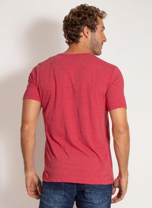 camiseta-aleatory-masculina-lisa-reativa-mescla-vermelha-modelo-2-