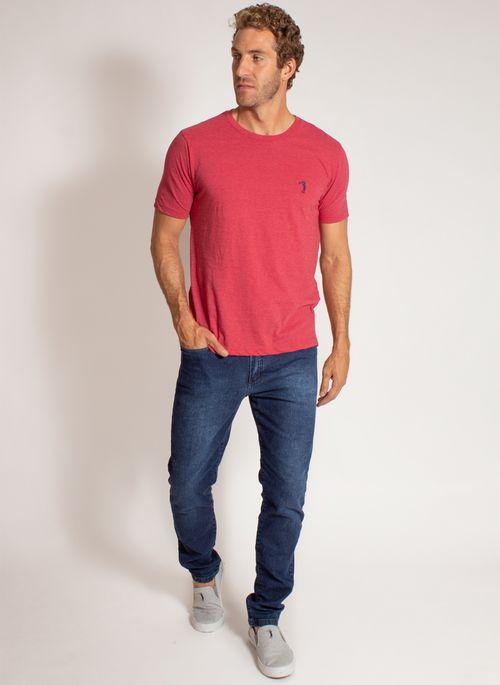 camiseta-aleatory-masculina-lisa-reativa-mescla-vermelha-modelo-3-