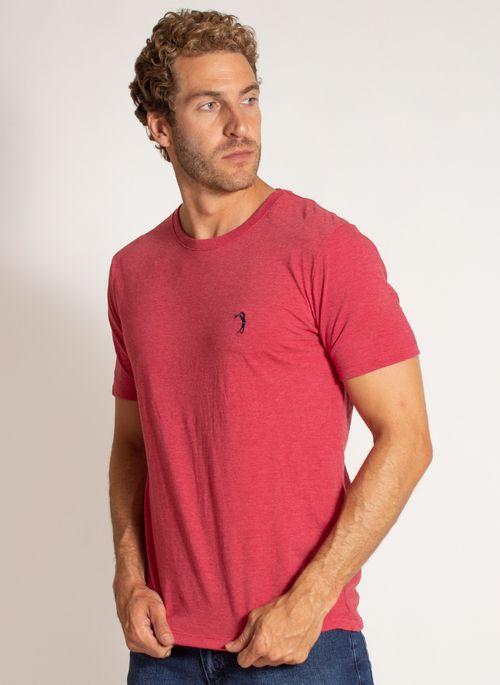 camiseta-aleatory-masculina-lisa-reativa-mescla-vermelha-modelo-4-