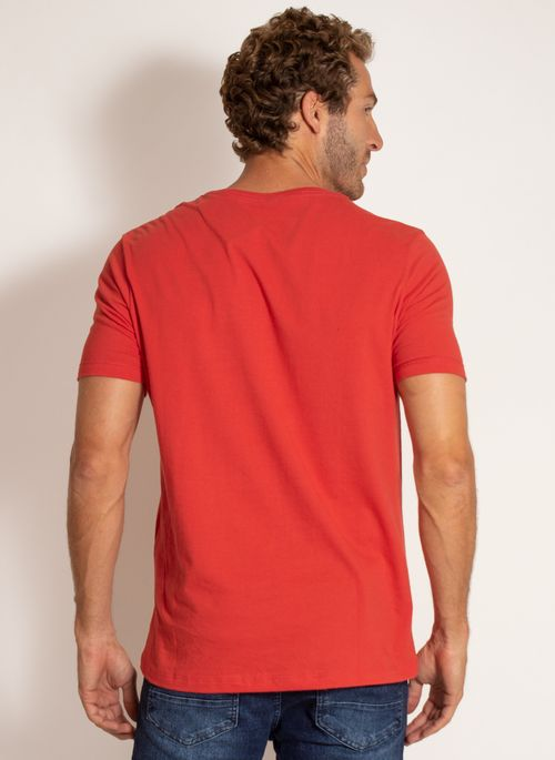 camiseta-aleatory-masculina-lisa-reativa-vermelha-modelo-2-