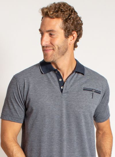 camisa-polo-aleatory-masculina-jacquard-mini-print-dark-azul-modelo-1-