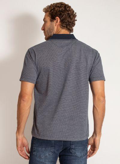 camisa-polo-aleatory-masculina-jacquard-mini-print-dark-azul-modelo-2-