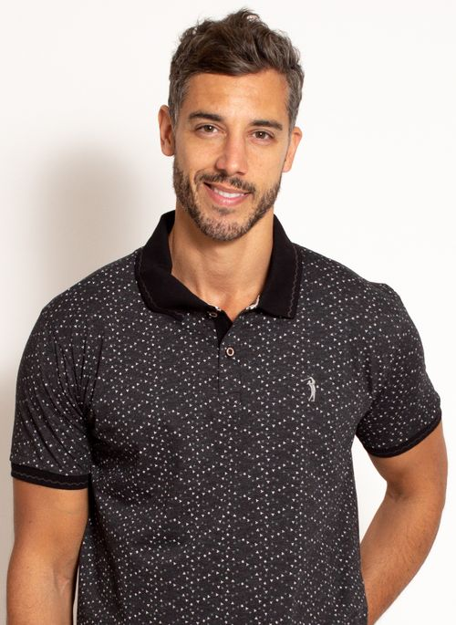camisa-polo-aleatory-masculina-estampada-fan-preta-modelo-1-