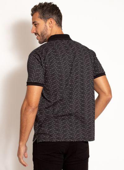 camisa-polo-aleatory-masculina-estampada-fan-preta-modelo-2-