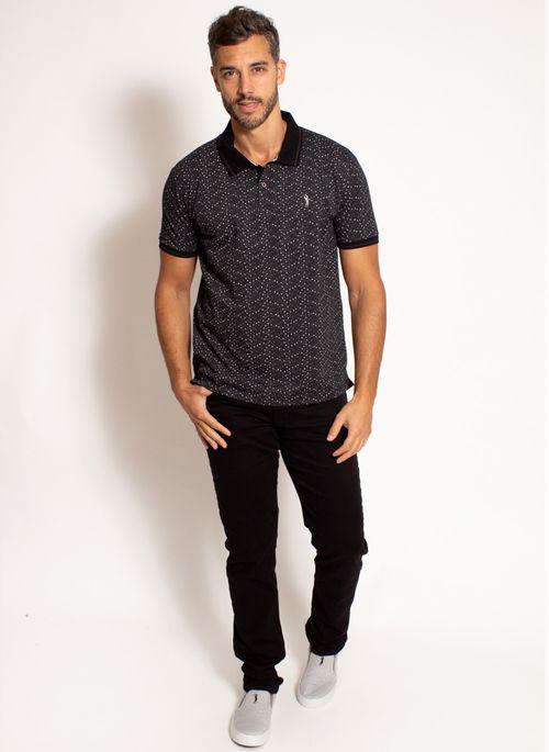 camisa-polo-aleatory-masculina-estampada-fan-preta-modelo-3-