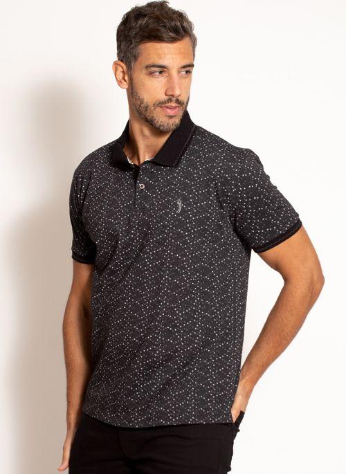 camisa-polo-aleatory-masculina-estampada-fan-preta-modelo-4-