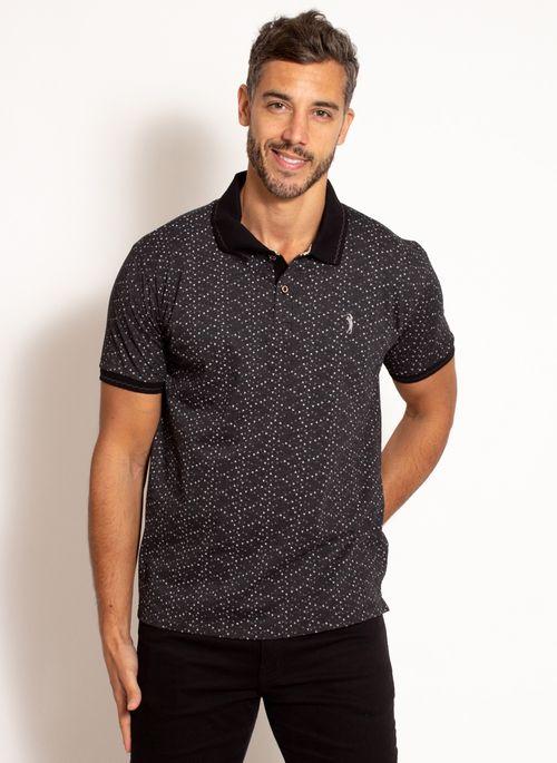 camisa-polo-aleatory-masculina-estampada-fan-preta-modelo-5-
