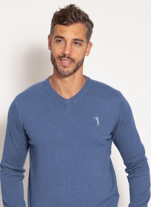 sueter-aleatory-masculino-gola-v-warm-azul-mescla-modelo-1-