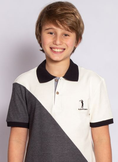 camisa-polo-aleatory-infantil-piquet-react-modelo-5-