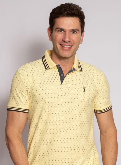 camisa-polo-aleatory-masculina-mini-print-square-amarelo-modelo-2020-1-