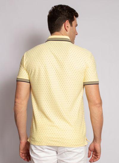 camisa-polo-aleatory-masculina-mini-print-square-amarelo-modelo-2020-2-