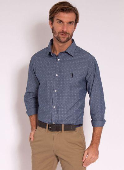 camisa-masculina-aleatorty-tech-strech-style-jeans-azul-modelo-2-