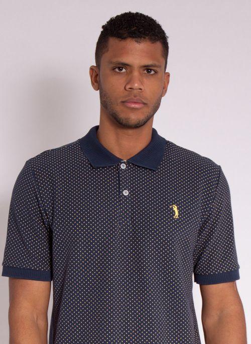 camisa-polo-aleatory-masculina-piquet-mini-print-fit-marinho-modelo-1-