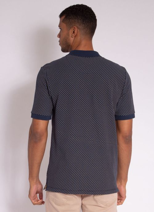camisa-polo-aleatory-masculina-piquet-mini-print-fit-marinho-modelo-2-