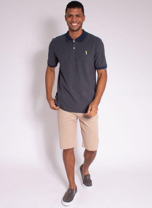 camisa-polo-aleatory-masculina-piquet-mini-print-fit-marinho-modelo-3-