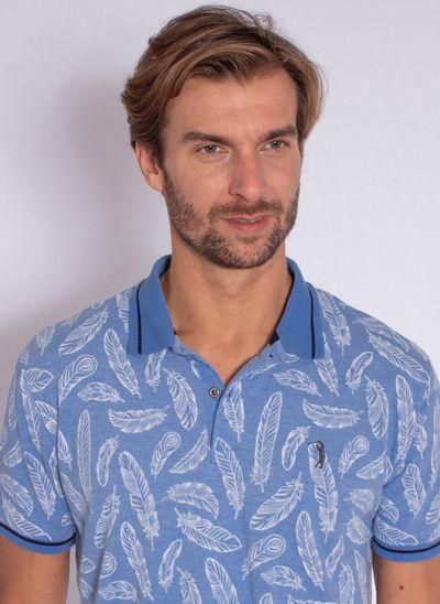 camisa-polo-aleatory-masculina-estampada-fresh-azul-modelo-1-