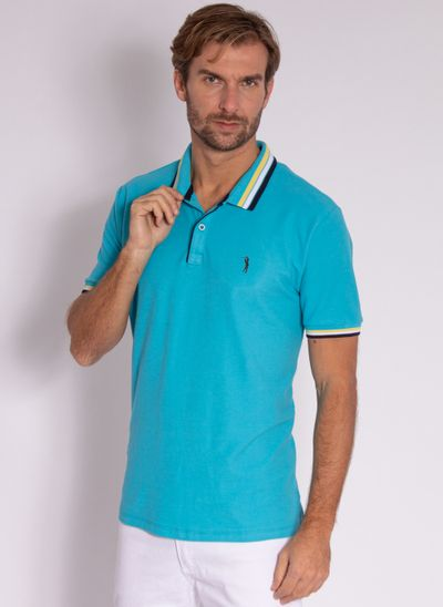 camisa-polo-aleatory-masculina-strong-azul-modelo-2-