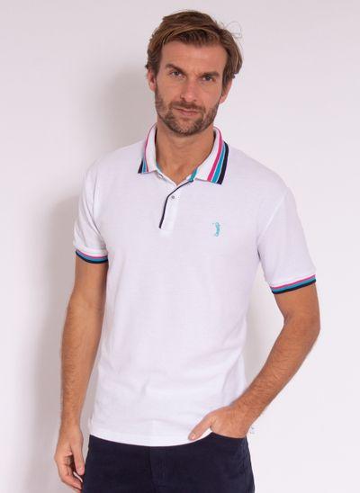 camisa-polo-aleatory-masculina-strong-branco-modelo-2-