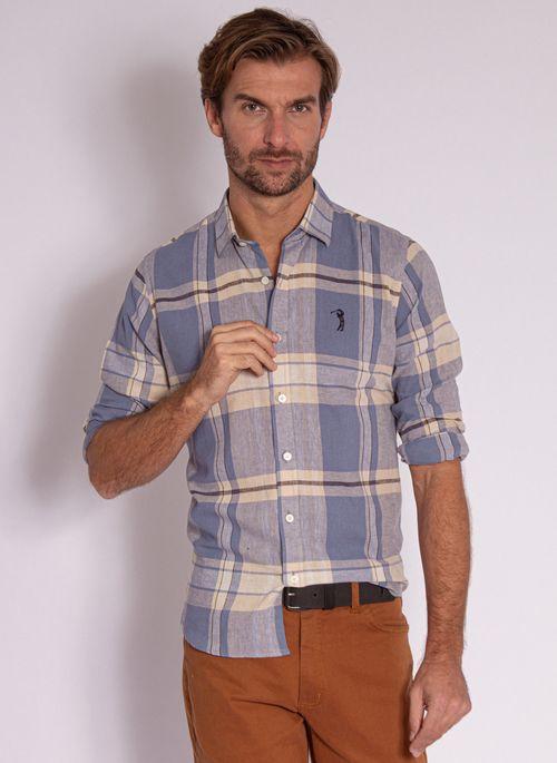 camisa-aleatory-masculina-linho-xadrez-azul-modelo-2020-1-