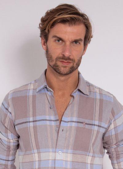 camisa-aleatory-masculina-linho-xadrez-cinza-modelo-2020-1-