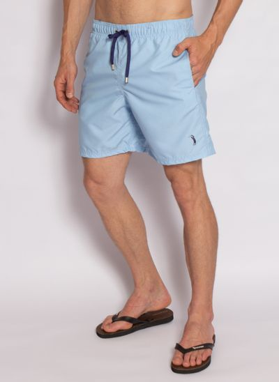 shorts-aleatory-masculino-liso-break-azul-modelo-2-