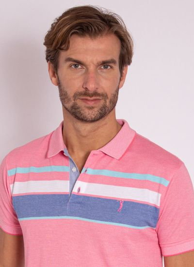 camisa-polo-aleatory-listrada-piquet-morning-rosa-modelo-1-