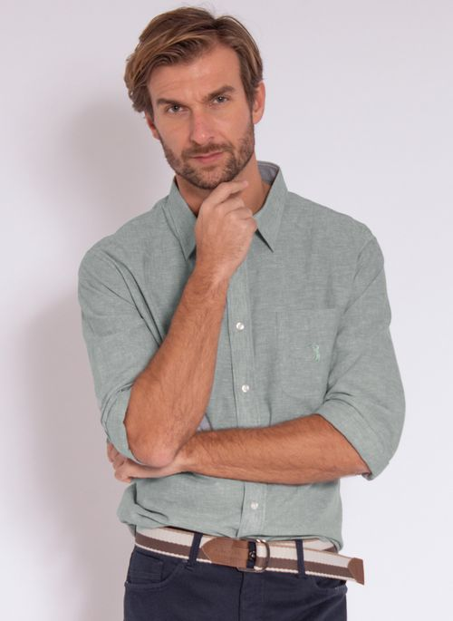 camisa-aleatory-masculina-linho-verde-modelo-2020-2-