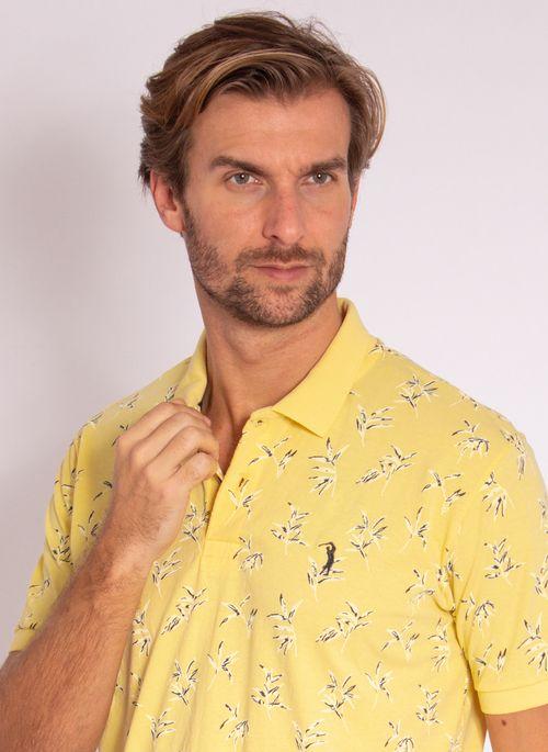 camisa-polo-aleatory-masculina-estampada-dream-amarelo-modelo-1-