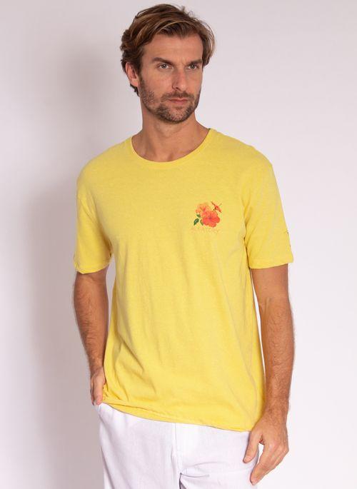 camiseta-aleatory-masculina-estampada-flower-amarelo-modelo-4-