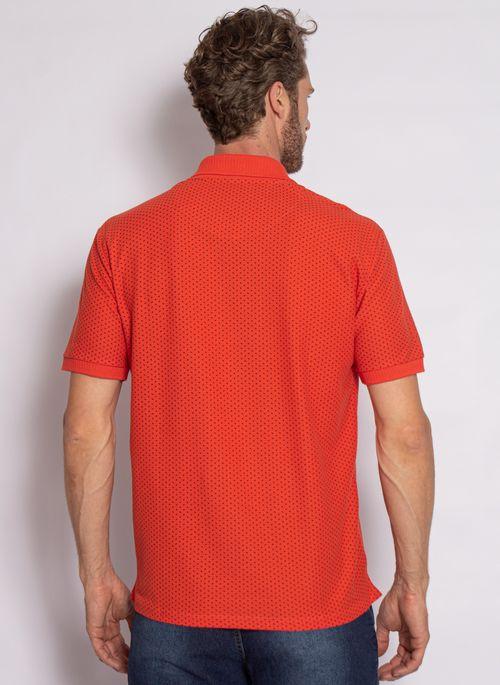 camisa-polo-aleatory-masculina-piquet-mini-print-fit-laranja-modelo-2020-2-
