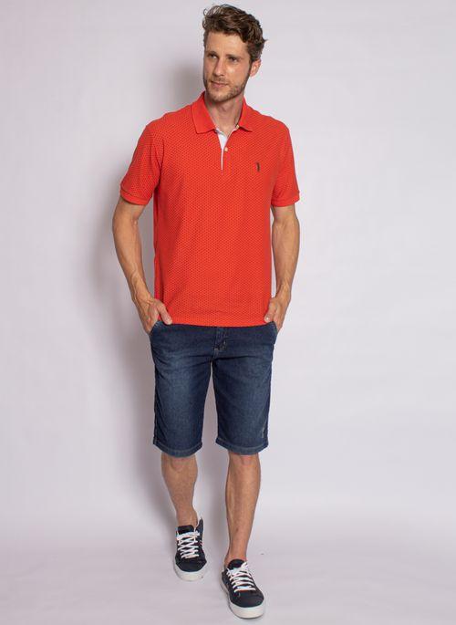 camisa-polo-aleatory-masculina-piquet-mini-print-fit-laranja-modelo-2020-3-
