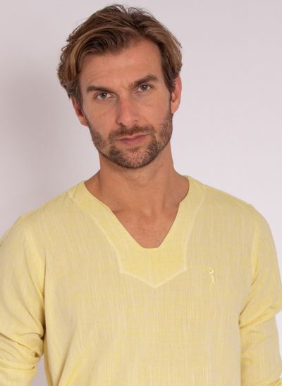 camisa-aleatory-masculino-linho-calm-amarelo-modelo-1-