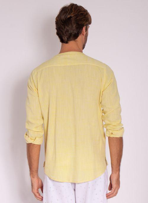 camisa-aleatory-masculino-linho-calm-amarelo-modelo-2-