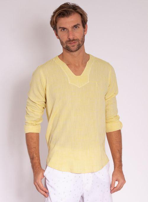 camisa-aleatory-masculino-linho-calm-amarelo-modelo-4-