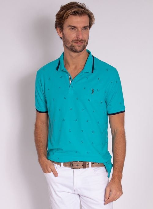 camisa-polo-aleatory-masculina-mini-print-trident-azul-modelo-2-