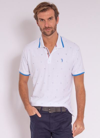 camisa-polo-aleatory-masculina-mini-print-trident-branco-modelo-2-