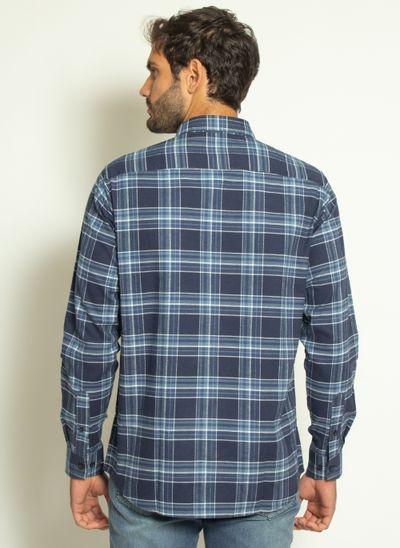 camisa-aleatory-masculina-xadrez-touch-marinho-com-bolso--modelo--2-