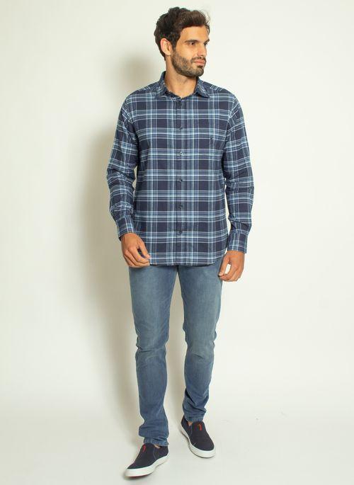 camisa-aleatory-masculina-xadrez-touch-marinho-com-bolso--modelo--3-