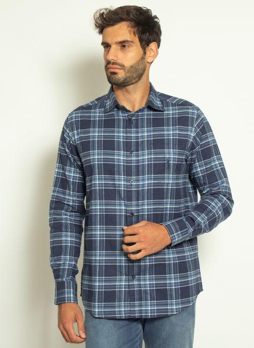 camisa-aleatory-masculina-xadrez-touch-marinho-com-bolso--modelo--4-