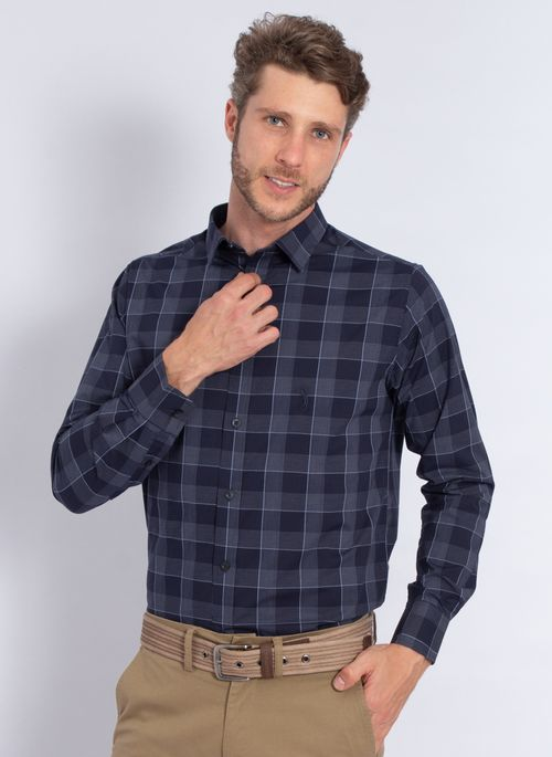 camisa-aleatory-masculina-xadrez-tech-strech-robust-marinho-modelo-4-