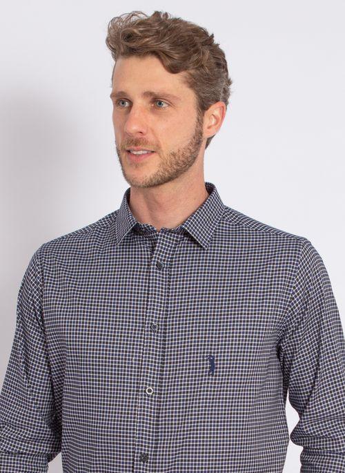 camisa-aleatory-masculina-xadrez-tech-strech-prove-marinho-modelo-1-