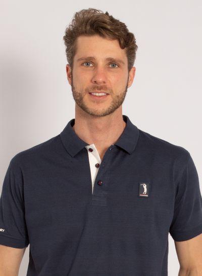 camisa-polo-aleatory-masculina-listrada-textura-azul-modelo-1-
